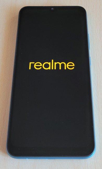 Turning on the realme C21