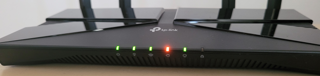 See whether the LEDs are turned on on your TP-Link router