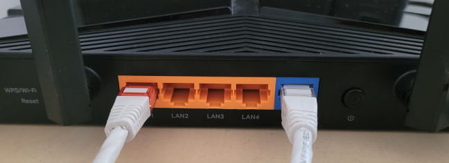 Connect your PC to the TP-Link router using a cable