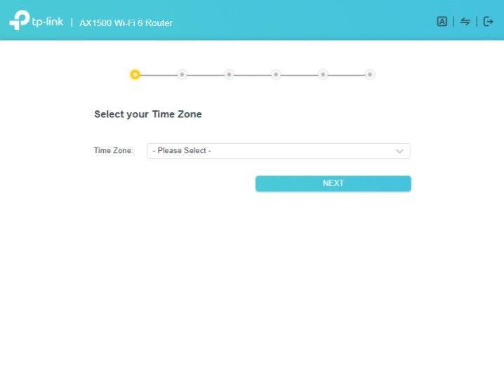 Select the time zone for your TP-Link router