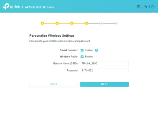 Personalize the wireless settings on the TP-Link router