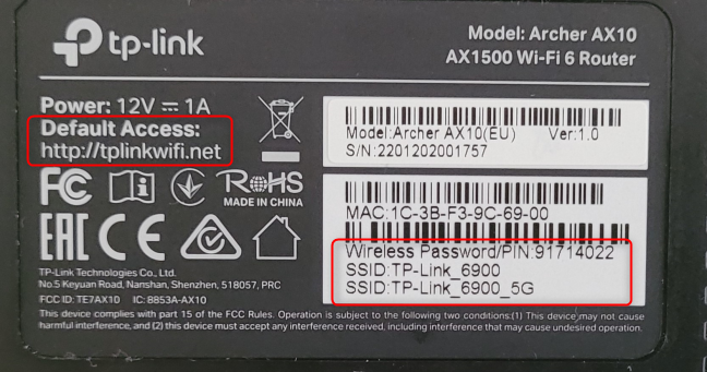See the Wi-Fi details on the bottom of your TP-Link router