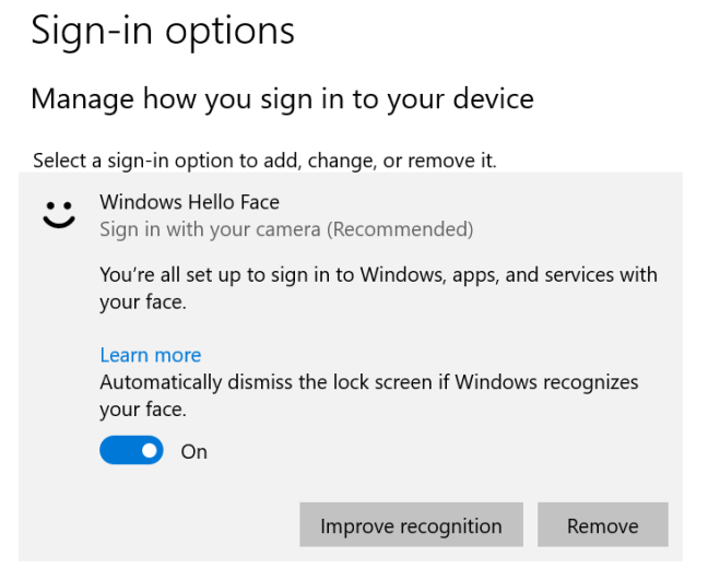 Windows Hello is getting some improvements