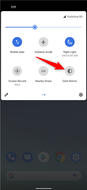 How to turn on the Android Dark theme