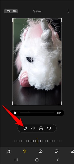 How to rotate videos on Android with Samsung's Gallery app
