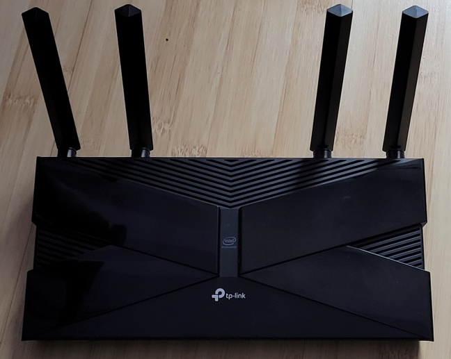 The TP-Link Archer AX50 router with Wi-Fi 6