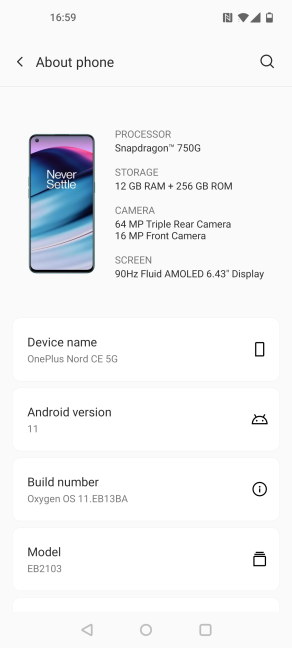 Details about the OnePlus Nord CE 5G