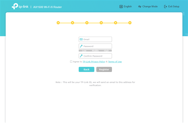 Create your TP-Link ID