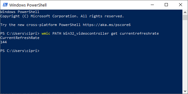 View the Refresh Rate in PowerShell