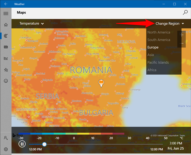 Check the weather map for another region