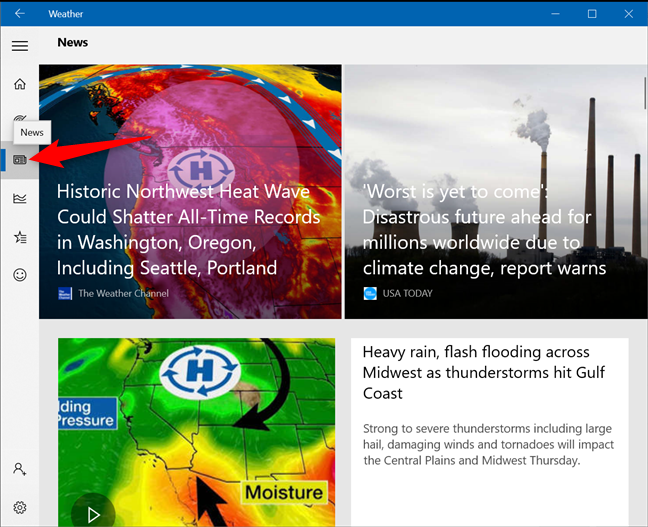 Get News about the weather