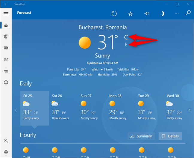 Decide how you want to display the temperature