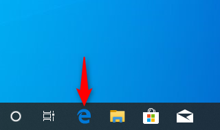 The icon for the legacy version of Microsoft Edge