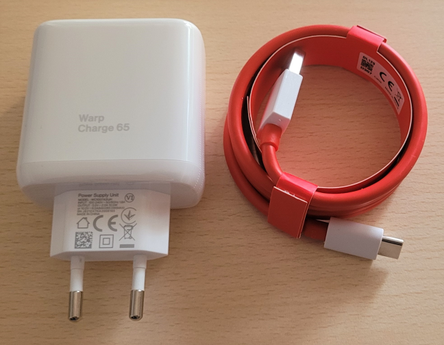 The 65W Warp charger