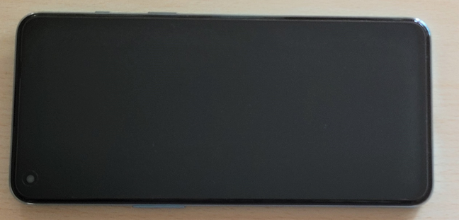 A screen protector is applied on the display