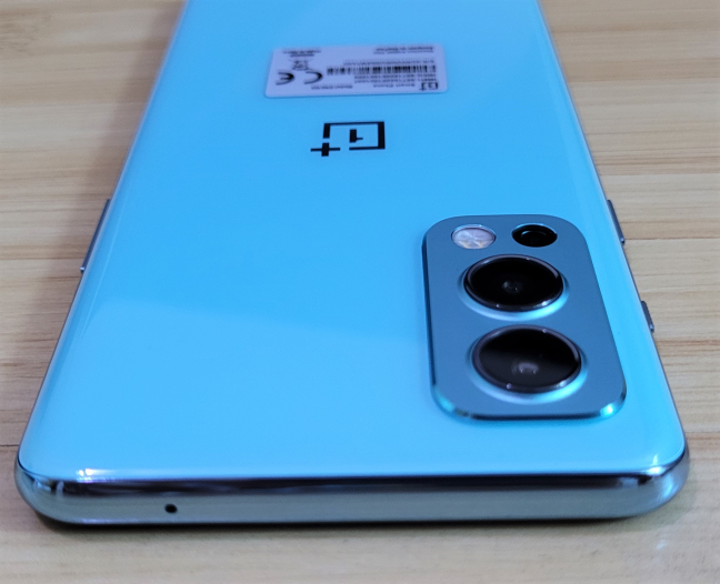 The top bezel of the OnePlus Nord2 5G