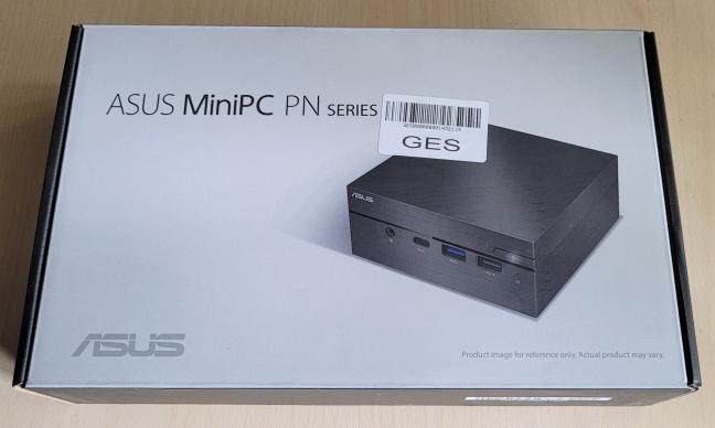 ASUS Mini PC PN62 comes in a simple box