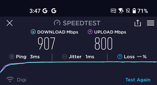 The speeds you reach on ASUS Zenfone 8 with Wi-Fi 6