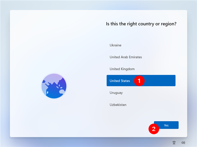 Choose your country from the list