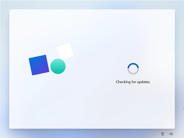 The setup checks for Windows 11 updates