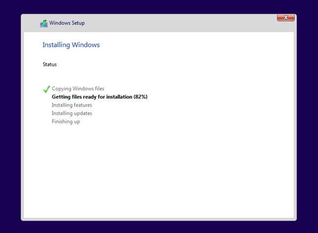 Windows 11 is installing