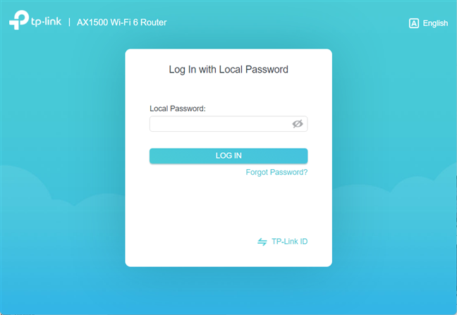 Log in to your TP-Link Wi-Fi 6 router
