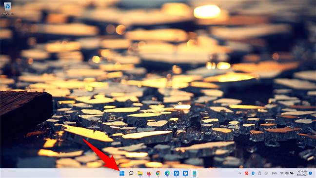 Open the Start Menu to restart Windows 11