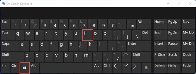 The keyboard shortcut to open Windows 11 Settings