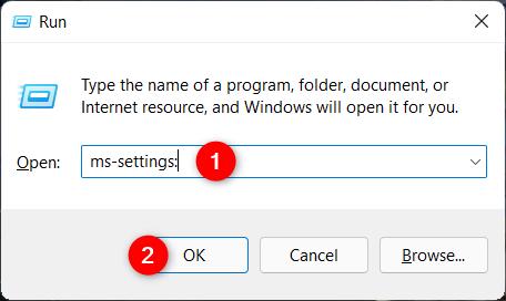 Open the Windows 11 Settings from Run