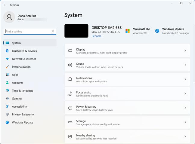 The Windows 11 Settings app