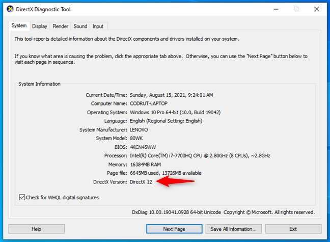 Windows 11 system requirements: GPU that supports DirectX 12