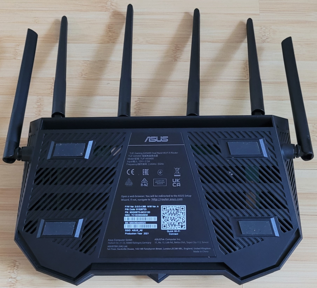 There are no holes for mounting the router on walls