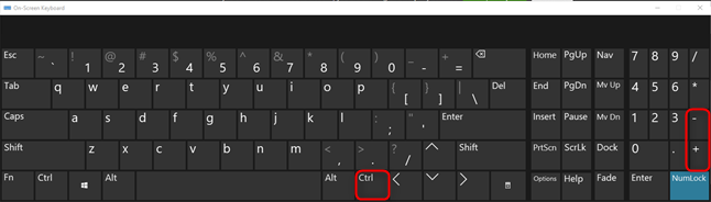 Zoom in and out in Chrome by pressing the Ctrl and the + or - sign