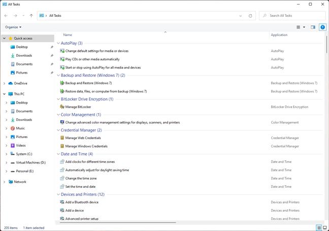 God Mode in Windows 11