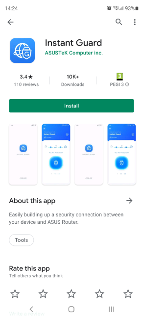 Install the Instant Guard app on your smartphone