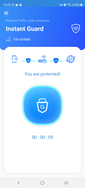 Instant Guard protects your smartphone's internet traffic