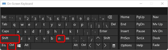 Create a new folder in Windows with a keyboard shortcut