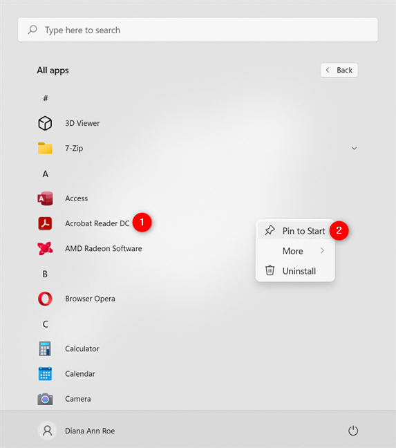 How to pin to Start Menu any app installed on your PC in Windows 11