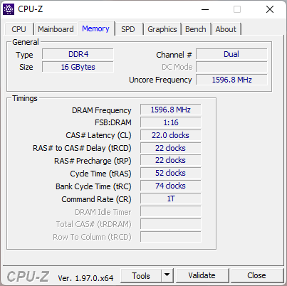 ASUS ROG Strix G17 G713QC: RAM specs