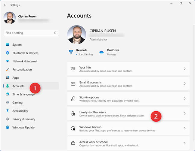In Settings, go to Accounts > Family & other users