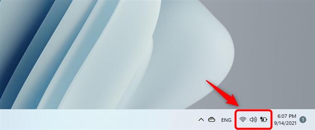 Open Windows 11's quick settings