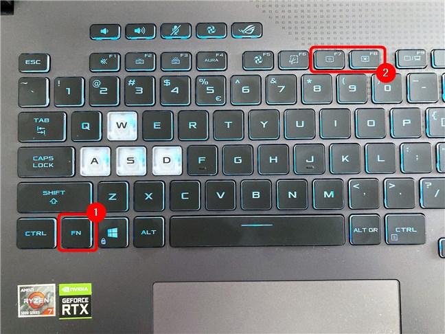 How to adjust brightness on an ASUS ROG Strix G17 G713