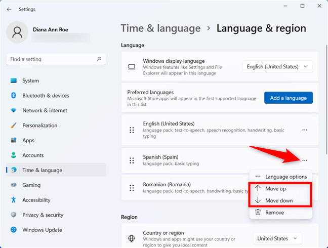 Use a different language for Microsoft apps