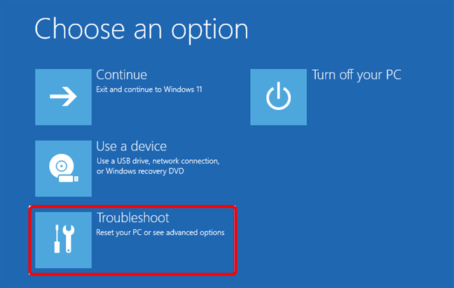 Troubleshoot Windows 11