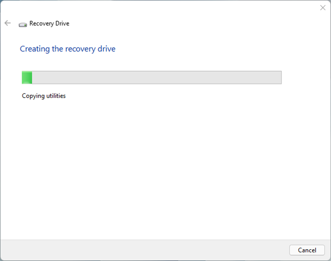 Creating a Windows 11 Recovery Drive
