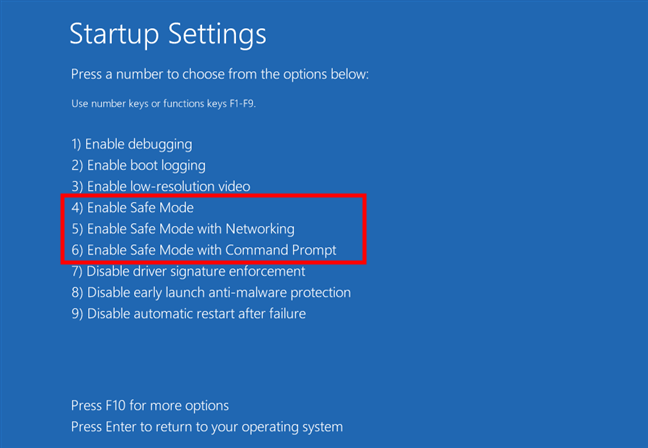 Choose one of the three Safe Mode options for Windows 11