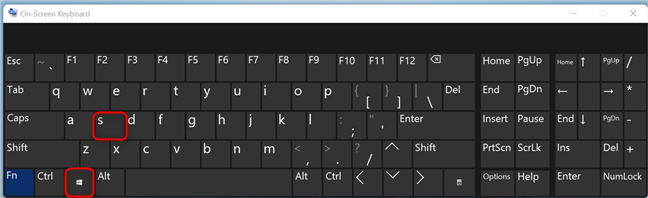The keyboard shortcut for Windows Search
