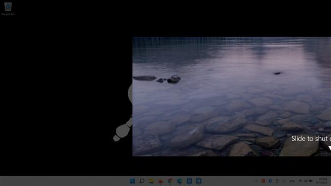 How to shutdown Windows 11 with slidetoshutdown