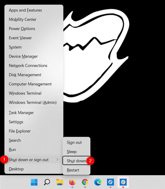 How to shut down Windows 11