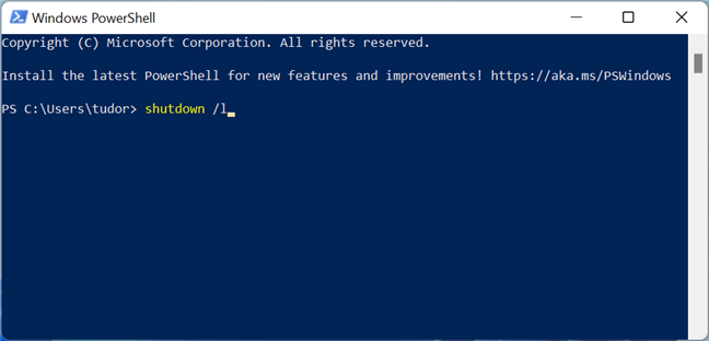 The console command for signing out of Windows 11